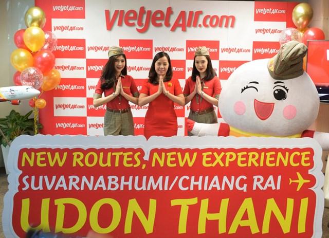 Chào đường bay mới từ Bangkok và Chiang Rai đến Udon Thani, Vietjet Thái Lan tung hơn 10.000 vé khuyến mãi chỉ từ 0 đồng