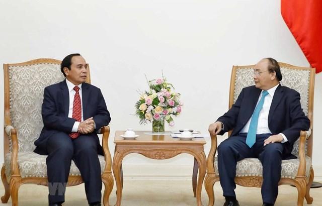 Thủ tướng tiếp Phó Thủ tướng, Trưởng ban Kiểm tra Trung ương Lào