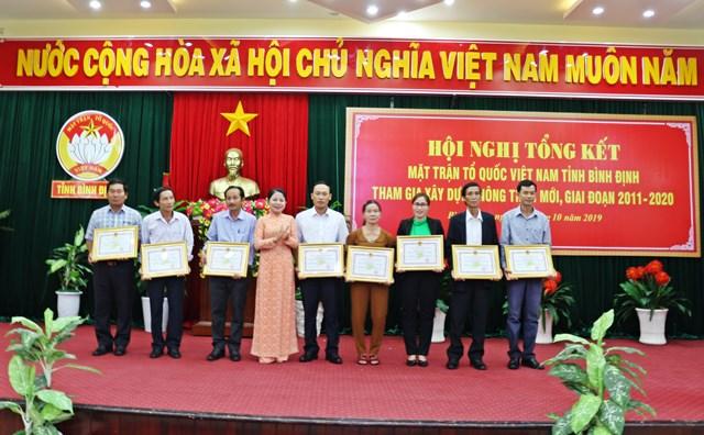 Hội nghị tổng kết MTTQ Việt Nam tỉnh Bình Định tham gia xây dựng nông thôn mới giai đoạn 2011-2020 - 2