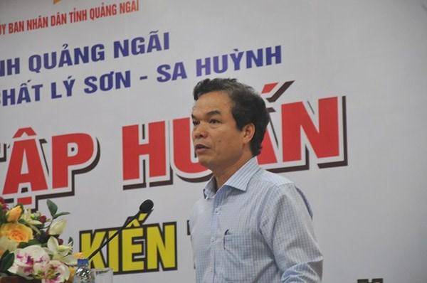 Quảng Ngãi: Tập huấn cung cấp thông tin, kiến thức công viên địa chất Lý Sơn - Sa Huỳnh