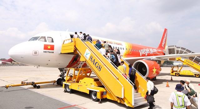 Thời tiết xấu, sân bay Phú Quốc dừng tiếp thu tàu bay