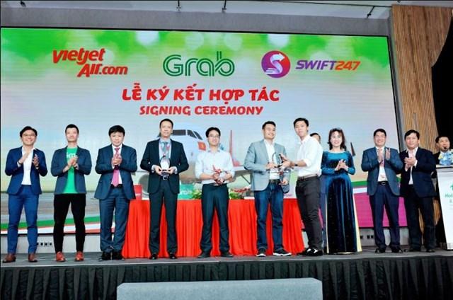 Vietjet, Swift247 và Grab hợp tác toàn diện nhằm phát triển các giải pháp kết nối di chuyển và giao nhận - 1
