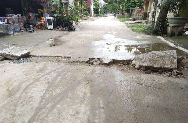 Thanh Hóa: Nhiều nhà dân bị lún nứt bất thường