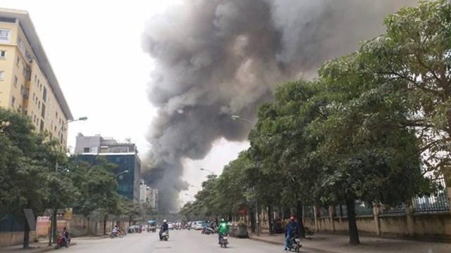Hà Nội: Đang cháy cực lớn ở chợ Quang, Thanh Liệt - 5