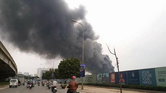 Hà Nội: Đang cháy cực lớn ở chợ Quang, Thanh Liệt - 6