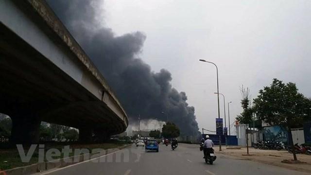 Hà Nội: Đang cháy cực lớn ở chợ Quang, Thanh Liệt - 7