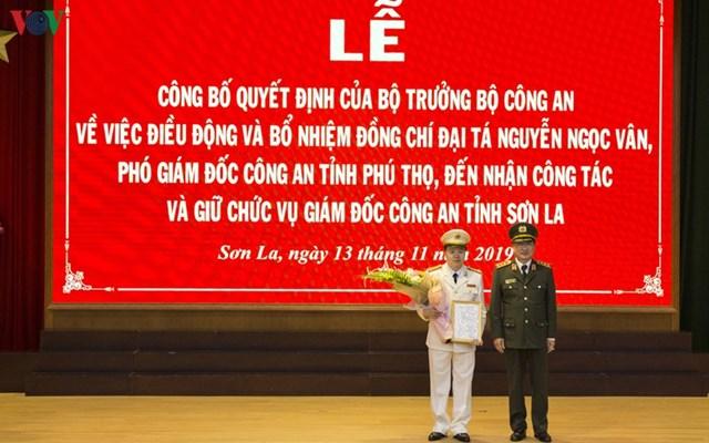 Phó Giám đốc Công an Phú Thọ giữ chức Giám đốc Công an Sơn La