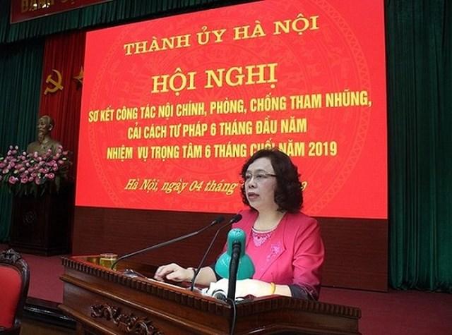 Thành ủy Hà Nội lập 3 đoàn kiểm tra về phòng chống tham nhũng