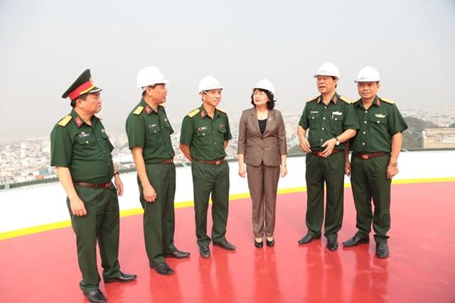 Phó Chủ tịch nước thăm, làm việc tại Bệnh viện Quân y 175 - 1