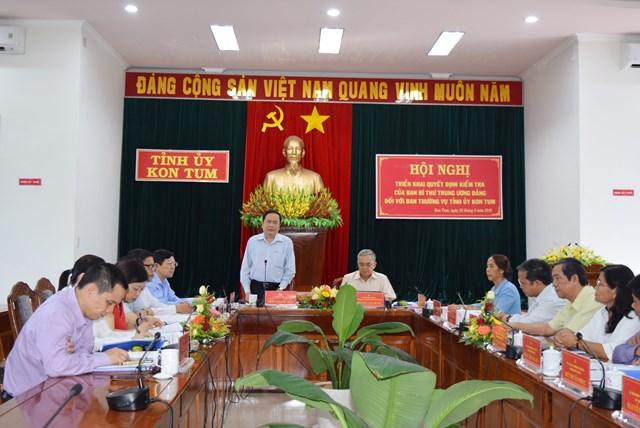 BẢN TIN MẶT TRẬN: Đoàn kiểm tra của Ban Bí thư làm việc với Ban Thường vụ Tỉnh ủy Kon Tum