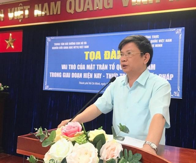 'Vai trò của Mặt trận Tổ quốc Việt Nam trong giai đoạn hiện nay – Thực trạng và giải pháp'