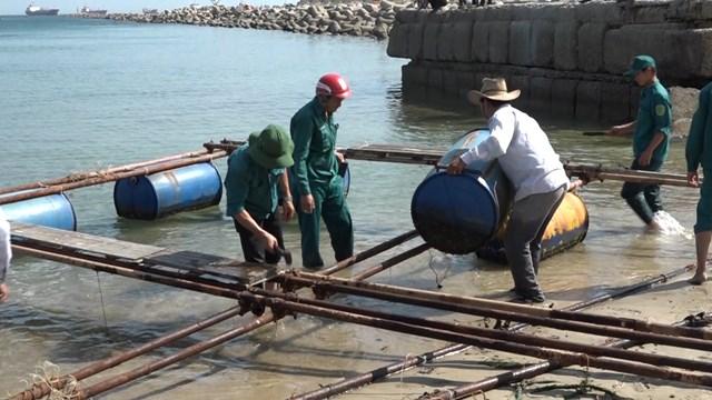 Quảng Ngãi: Hỗ trợ người dân tháo dỡ lồng bè, chấm dứt nuôi cá