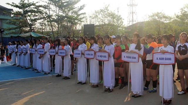 Sôi nổi giải bóng chuyền nữ tỉnh Quảng Nam năm 2019