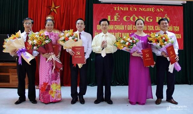 Chuẩn y lãnh đạo Ủy ban MTTQ tỉnh Nghệ An