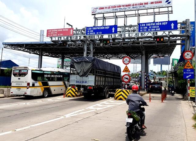 Cầu Vàm Cống lộ nhiều bất cập trạm thu phí T2