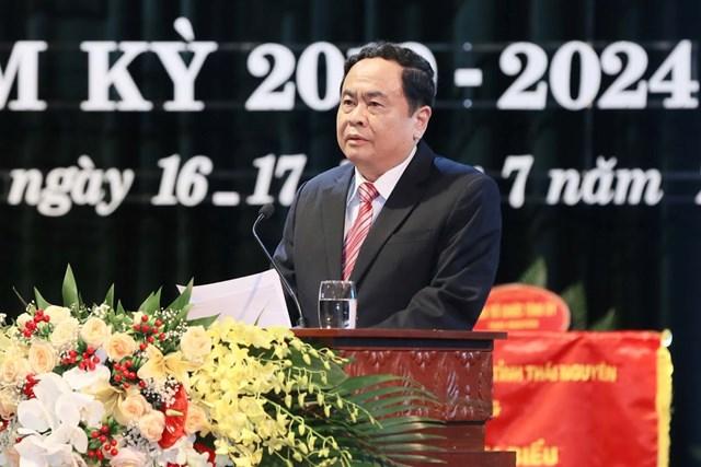 BẢN TIN MẶT TRẬN: Chủ tịch Trần Thanh MẫndựĐại hội MTTQ Việt Nam tỉnh Thái Nguyên