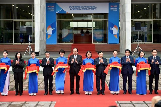 Khai trương Trung tâm báo chí Hội nghị thượng đỉnh Mỹ - Triều