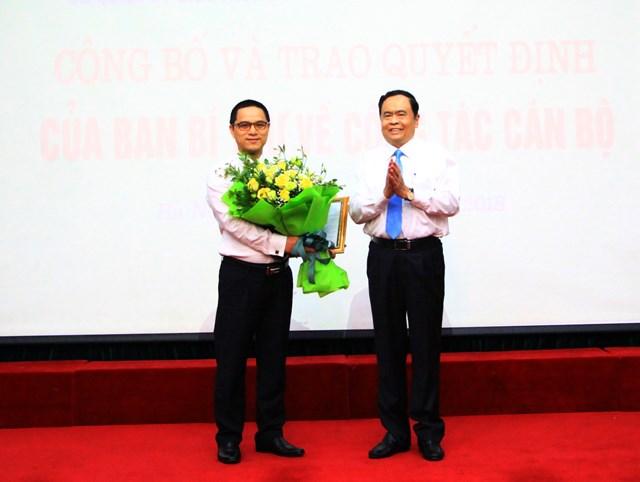 Công bố quyết định của Ban Bí thư về công tác cán bộ tại UBTƯ MTTQ Việt Nam - 1