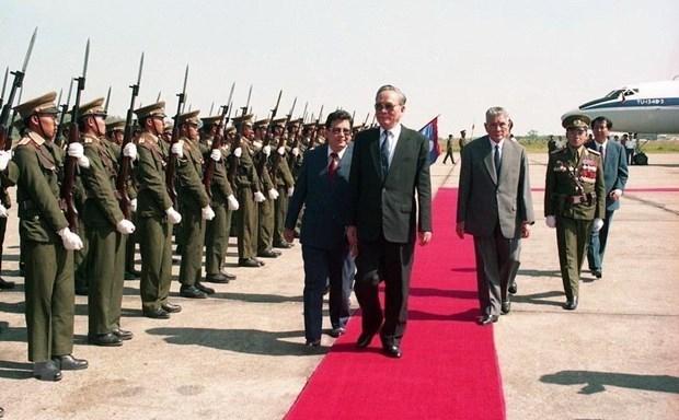 Lãnh đạo Lào gửi điện chia buồn về việc nguyên Chủ tịch nước Lê Đức Anh từ trần