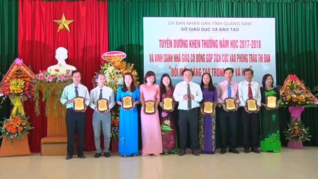 Quảng Nam: Vinh danh 76 thầy cô giáo tiêu biểu - 1