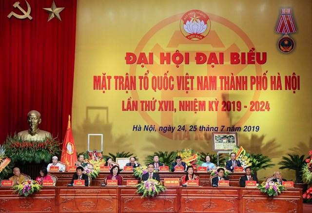 MTTQ TP Hà Nội tổ chức Đại hội MTTQ và đón nhận Huân chương Độc lập hạng Nhất