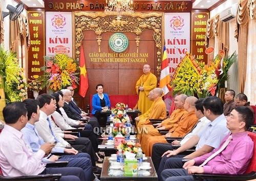 Chủ tịch Quốc hội chúc mừng Giáo hội Phật giáo Việt Nam - 1