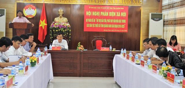 Quảng Nam: Phản biện đề án bảo tồn, phát huy văn hóa đặc trưng các dân tộc thiểu số
