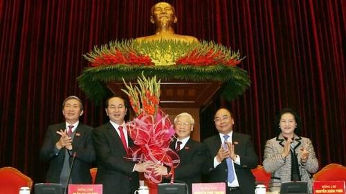Ông Nguyễn Phú Trọng tái đắc cử Tổng Bí thư khóa XII