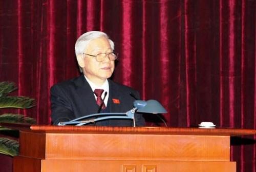 Ông Nguyễn Phú Trọng tái đắc cử Tổng Bí thư khóa XII - 1