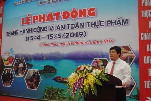 Quảng Ninh: Phát động 'Tháng hành động vì an toàn thực phẩm năm 2019'