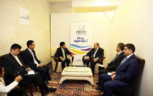 Phó Thủ tướng Phạm Bình Minh hội kiến Tổng thống, Thủ tướng Armenia - 1
