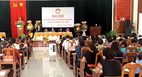 Kon Tum: Đại hội đại biểu MTTQ Việt Nam huyện Đăk Glei