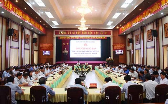 Giao ban công tác dân vận cụm Bắc Trung bộ và Tây Nguyên