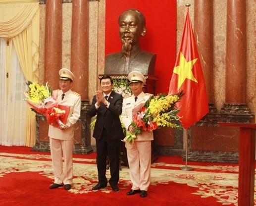 Hai Thứ trưởng Bộ Công an được thăng hàm Thượng tướng