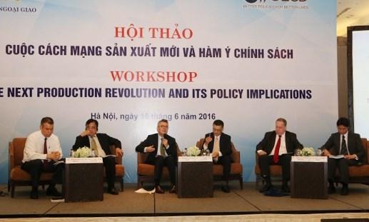 Hội thảo 'Cách mạng sản xuất mới và hàm ý chính sách'