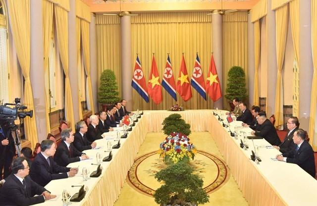 Tổng Bí thư, Chủ tịch nước Nguyễn Phú Trọng hội đàm với Chủ tịch Triều Tiên Kim Jong-un - 1