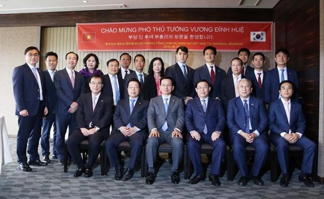 Phó Thủ tướng Vương Đình Huệ mong muốn tăng cường giao lưu nhân dân Việt - Hàn - 1