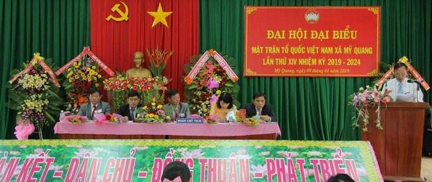 Bình Định: Đại hội điểm MTTQ Việt Nam xã Mỹ Quang