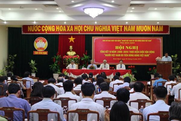 Bình Định: Tổng kết 10 năm CVĐ 'Người Việt Nam ưu tiên dùng hàng Việt Nam Việt Nam' - 1