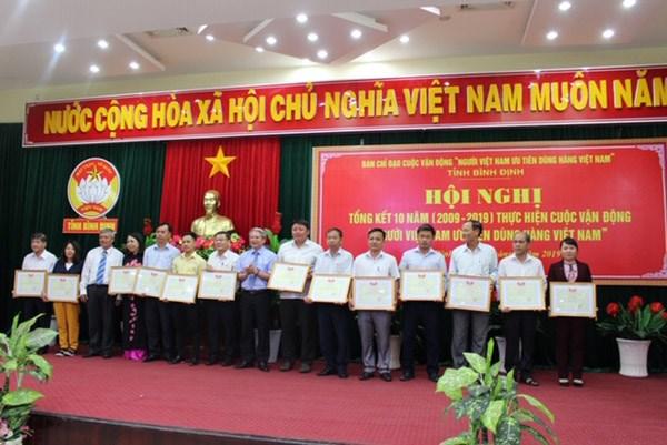 Bình Định: Tổng kết 10 năm CVĐ 'Người Việt Nam ưu tiên dùng hàng Việt Nam Việt Nam' - 2