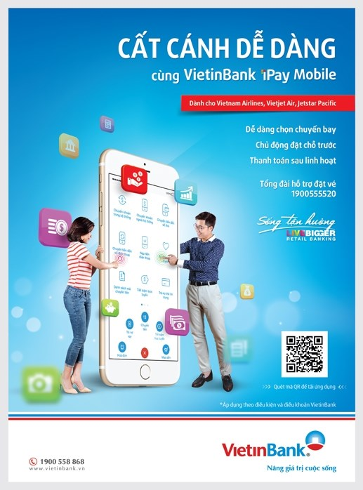 Mua vé máy bay dễ dàng với VietinBank iPay Mobile - 1