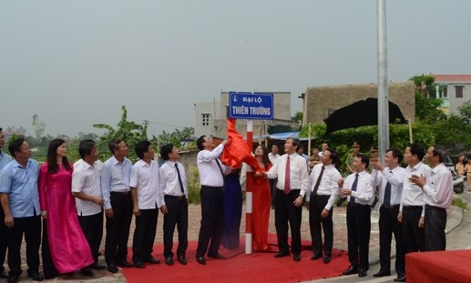 Nam Định gắn biển 'Đại lộ Thiên Trường'