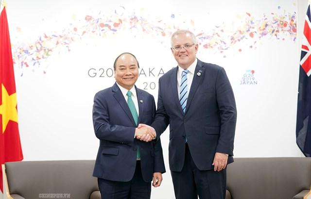 Thủ tướng gặp các nhà lãnh đạo Nga, Hàn Quốc, Đức, Australia, một số tổ chức quốc tế - 1