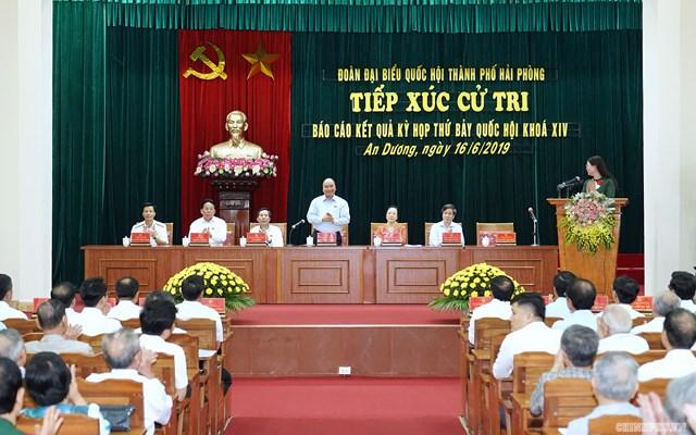 [ẢNH] Thủ tướng Nguyễn Xuân Phúc tiếp xúc cử tri Hải Phòng - 5