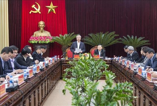 Thường trực Ban Bí thư làm việc tại Bắc Ninh