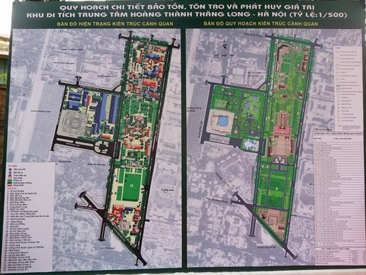 Qui hoạch chi tiết Khu di tích Trung tâm Hoàng thành Thăng Long