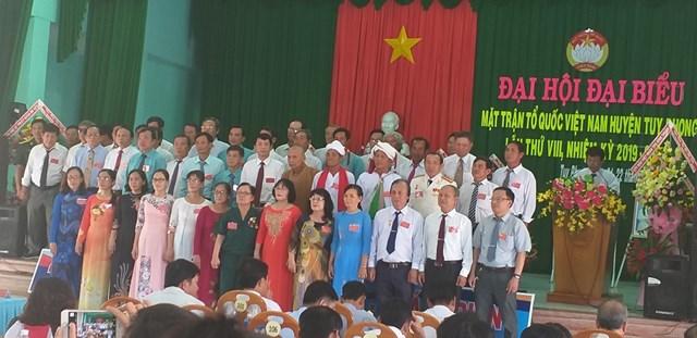 Huyện Tuy phong tổ chức thành công Đại hội MTTQ Việt Nam lần thứ tám