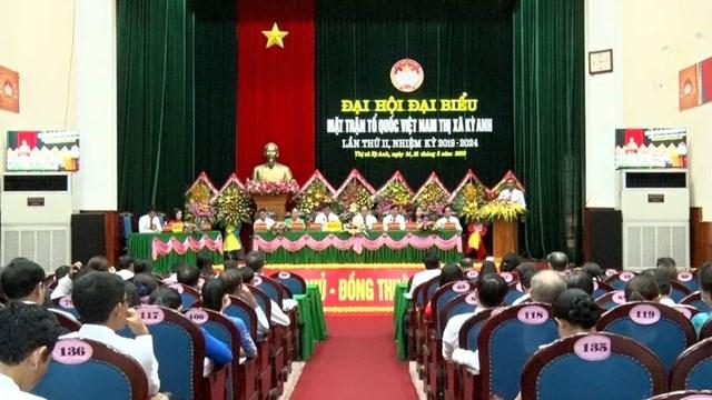 Hà Tĩnh: Hoàn thành đại hội MTTQ thị xã Kỳ Anh