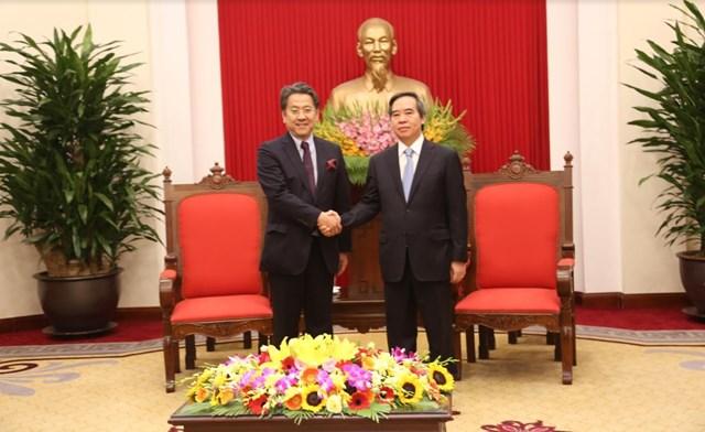 Trưởng ban Kinh tế Trung ương tiếp Thống đốc JBIC