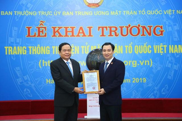 Khai trương giao diện mới Trang Thông tin điện tử MTTQ Việt Nam - 1
